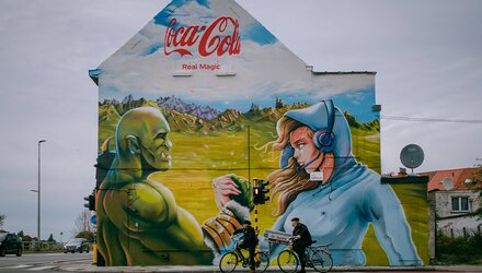 Muurschildering in Gent en Ukkel