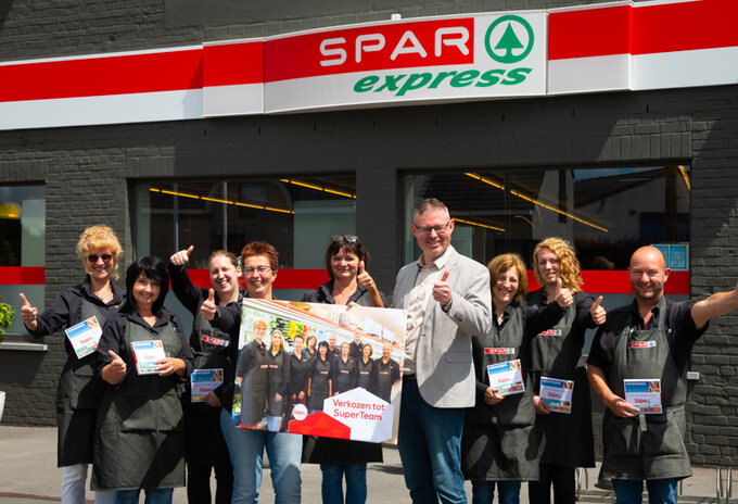 Prijsuitreiking Super Team Spar Express Herne