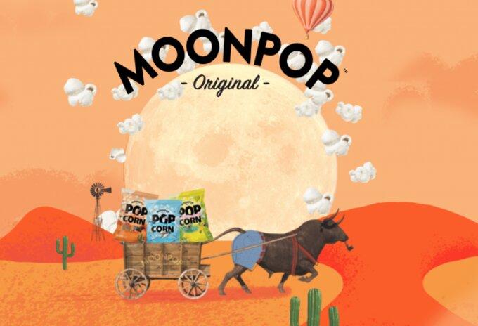 Biologische popcorn van Moonpop
