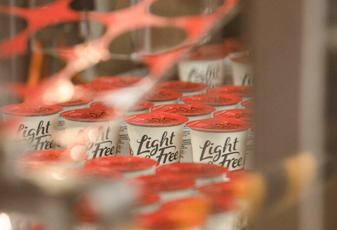 Eerste yoghurtpotje van gerecycleerd plastic