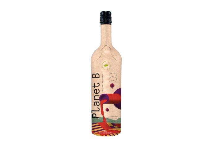 Primeur: wijnfles gemaakt van papier